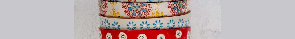 Material Details 4 Bohemian ceramic bowls