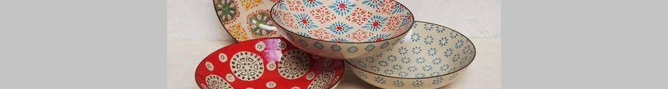 Material Details 4 Bohemian pasta plates