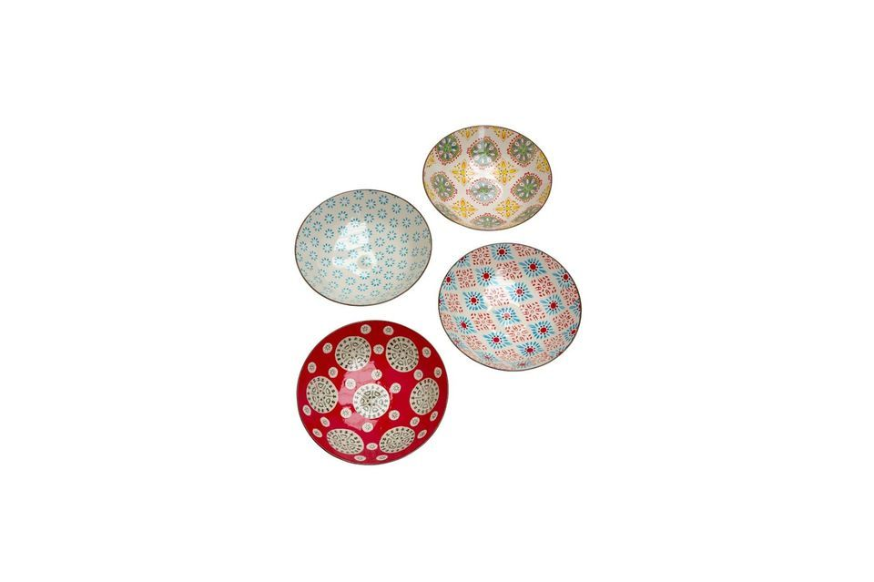 This set of 4 Bohemian pasta plates will literally set the stage for your most daring culinary