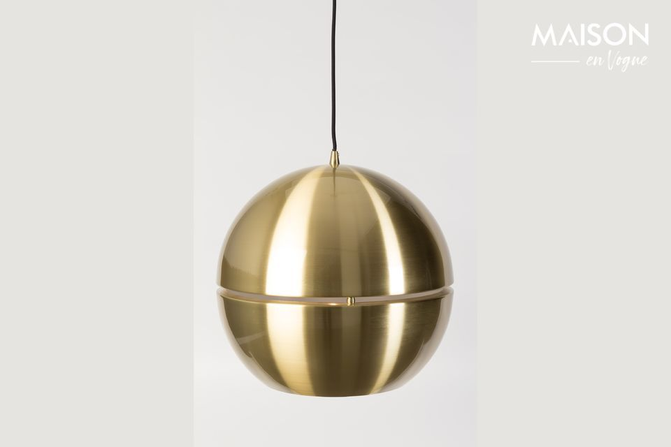 Your entire room is reflected on this very chic golden ball