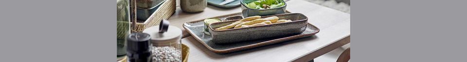 Material Details Aime stoneware plate