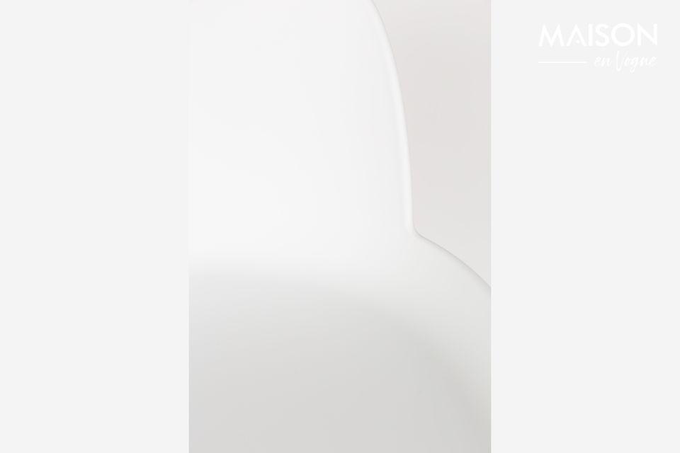a bar stool two materials for a Scandinavian look