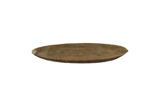Algarve Teak Round Plate Clipped