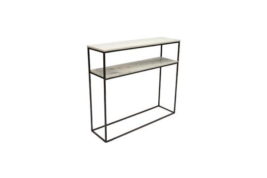 Amanty narrow console in marble and metal