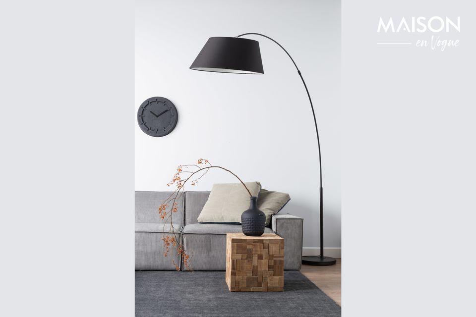 Arc black Floor lamp
