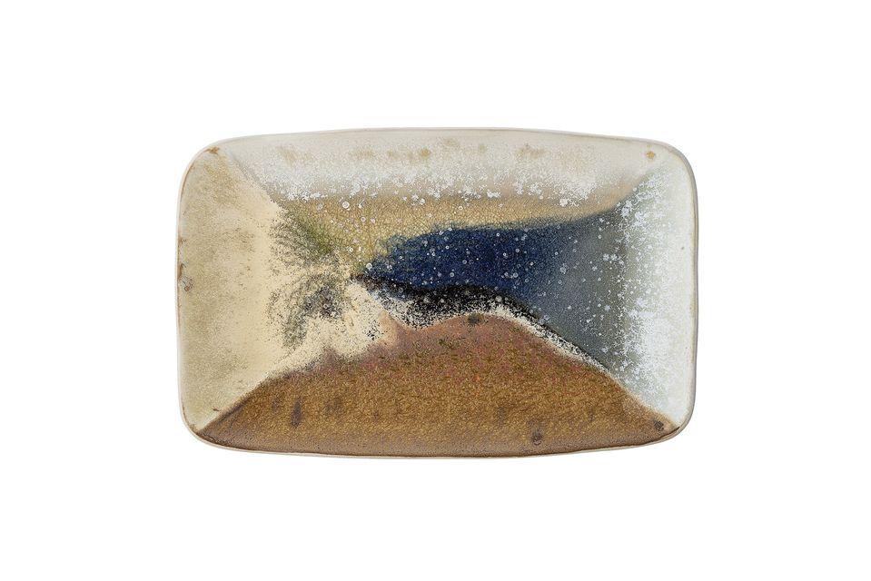 Arrigny stoneware rectangular dish