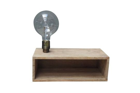 Arsy wall light and shelf in wood