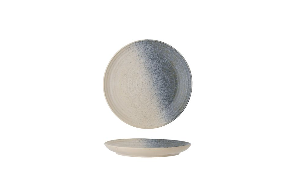 Aura stoneware plate Bloomingville