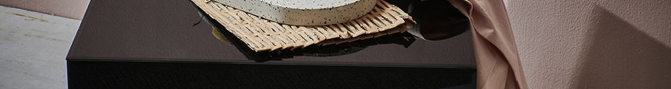 Material Details Aussos wicker coffee table