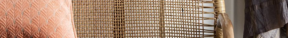 Material Details Bali rattan bench with grey cushions