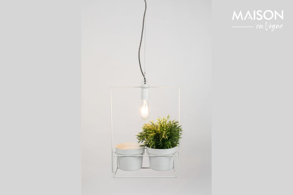 How about mixing a lamp with flowerpots?