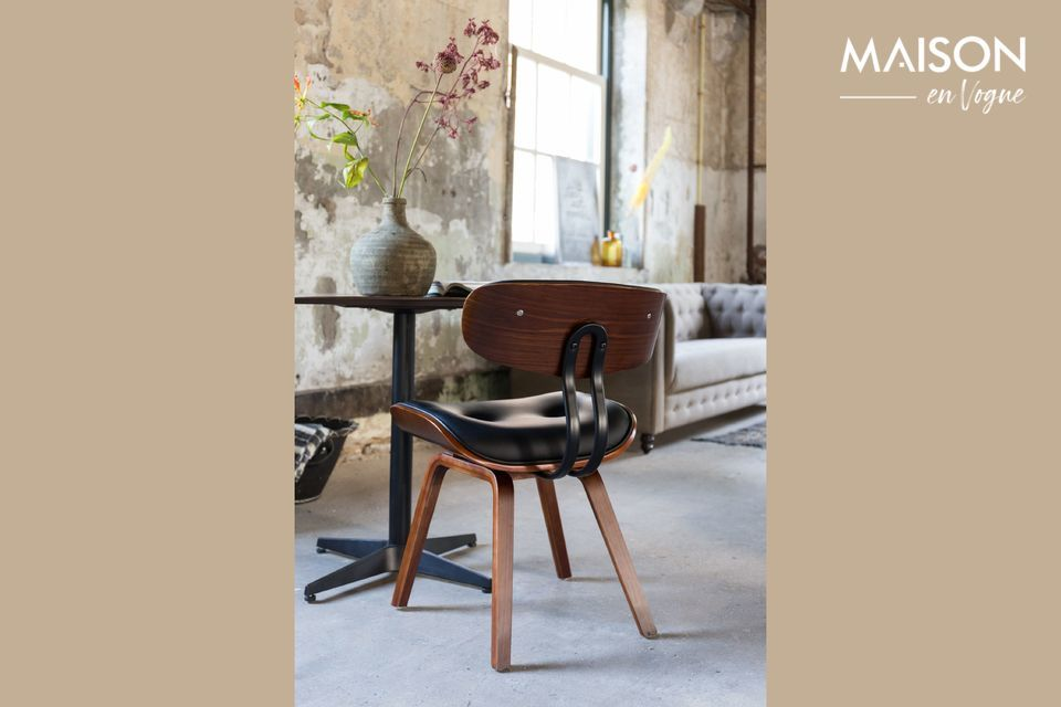 Black Wood brown and black chair Dutch Bone