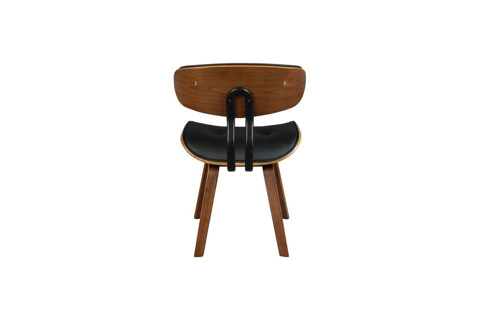 Black Wood brown and black chair - 9