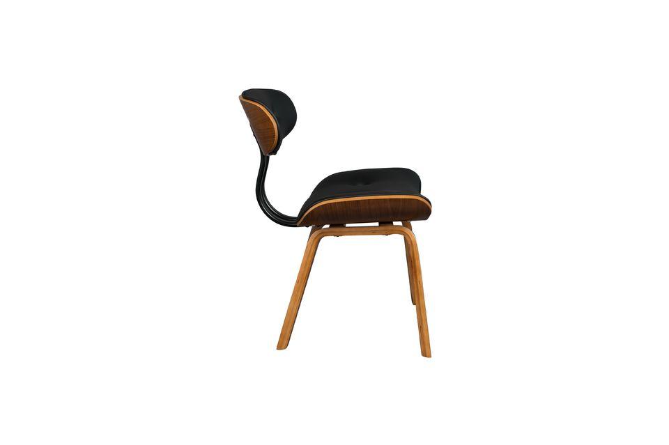 Black Wood brown and black chair - 11