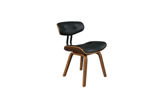 Black Wood brown and black chair Clipped