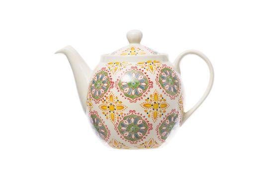 Bohemian teapot yellow green