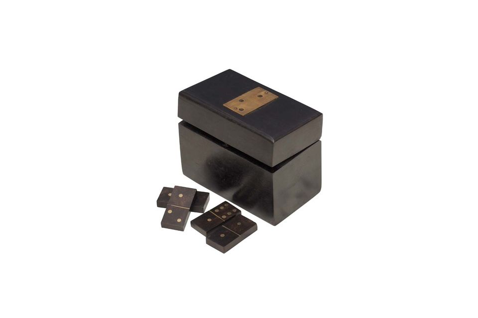 With its sober and pure wooden design, the Bouhey domino box is a traditional decorative accessory