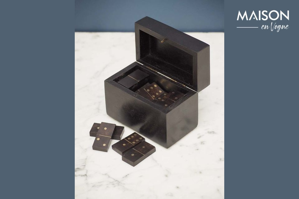 An elegant domino box with authentic style