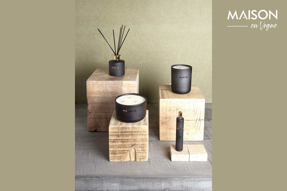 Natural wooden cube for a decorative element