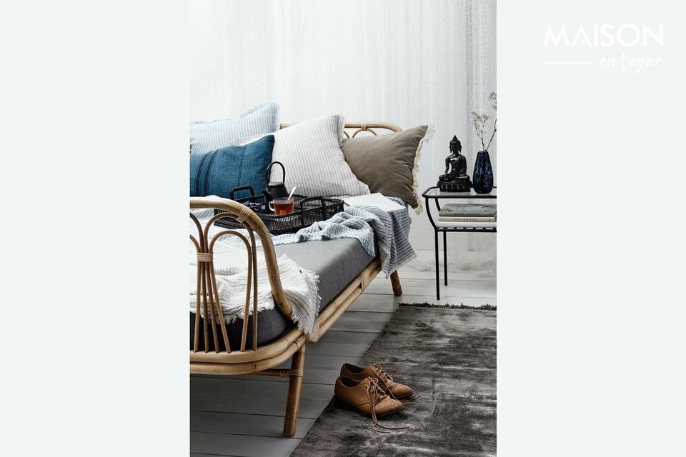 These blue and striped cushion covers are ideal for the cushions on your sofa