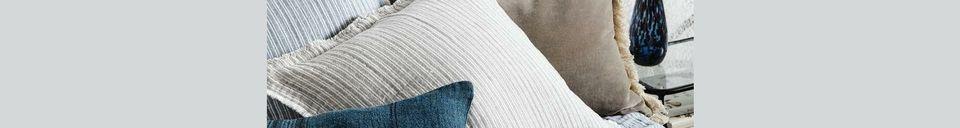 Material Details Bracieux Linen cushion cover