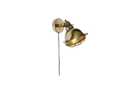 Brass Evan Wall Lamp Clipped
