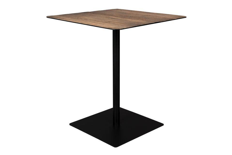 Braza counter table square brown colour - 5
