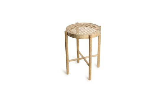 Broglie stool in natural wickerwork color