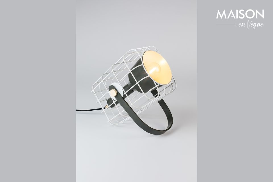 Cage White Table Lamp White Label