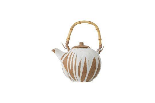 Camélia stoneware round teapot Clipped