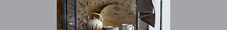 Material Details Camélia stoneware round teapot