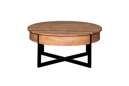 Castin round coffee table with 2 drawers