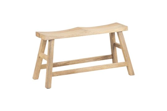 Chersey bench for two persons in natural wood