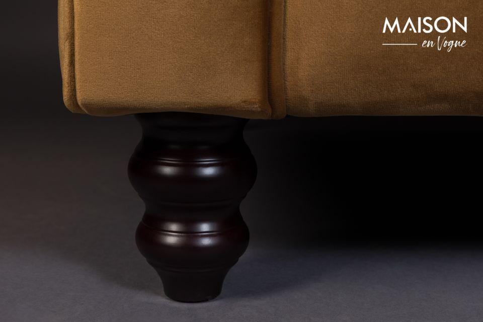 A vintage and elegant sofa