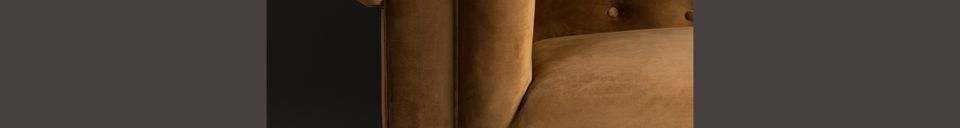 Material Details Chester Gold-brown velvet sofa