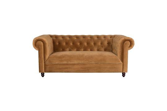 Chester Gold-brown velvet sofa Clipped
