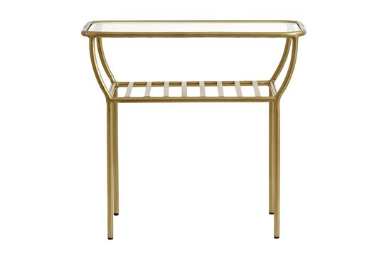 Chic side table gold colour Clipped