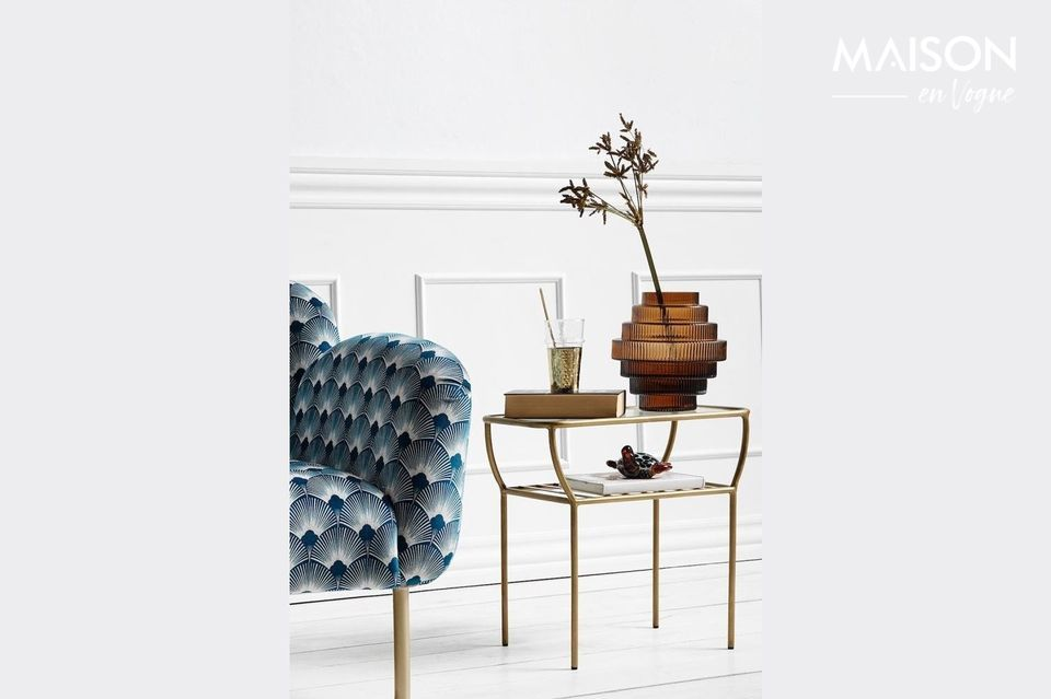 Chic side table gold colour Nordal