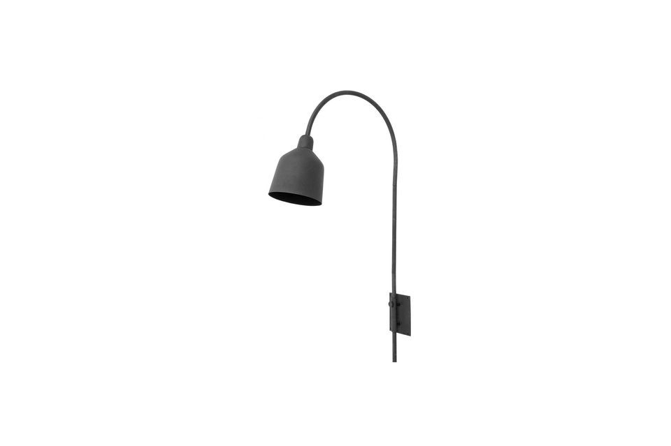 This luminaire revolutionizes the image of wall sconces with its support that can be fixed to the