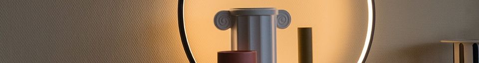 Material Details Collat Round table lamp