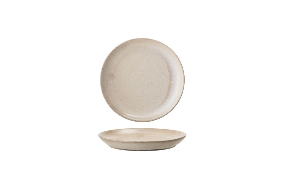 This beautiful Columbine plate is hand made in stoneware