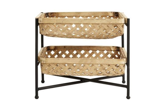 Curbigny Support with Bamboo baskets and black lacquered iron
