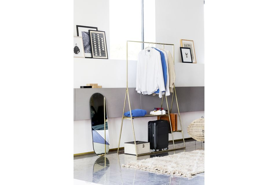 The beautiful golden colour of the Cusance Clothes Rack
