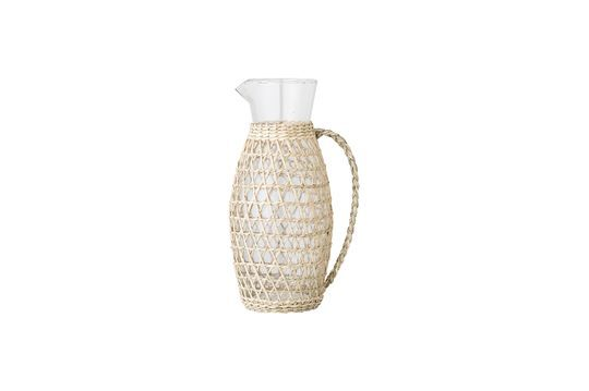 Daphne pitcher in transparent glass Clipped