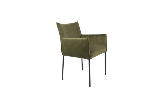 Dion Olive green velvet armchair Clipped