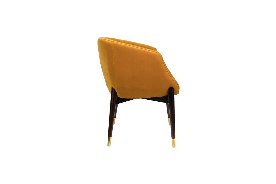 Dolly Ochre Velvet Armchair - 8