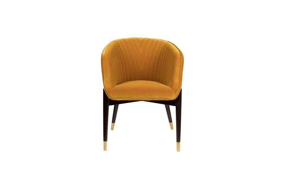 Dolly Ochre Velvet Armchair - 9