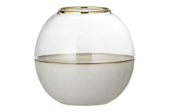 Dome Vase in white glass