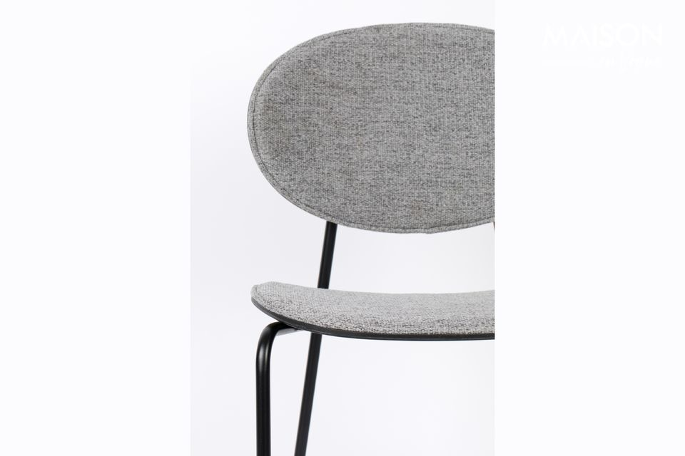This Donny Grey Counter Stool from White Label Living is made of polyester fabric in the seat and