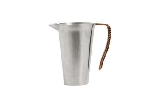 Doyet pitcher in stainless steel with leather handle